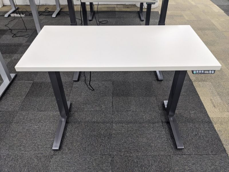"46"" Adjustable-Height Table Desk (Light Grey)"