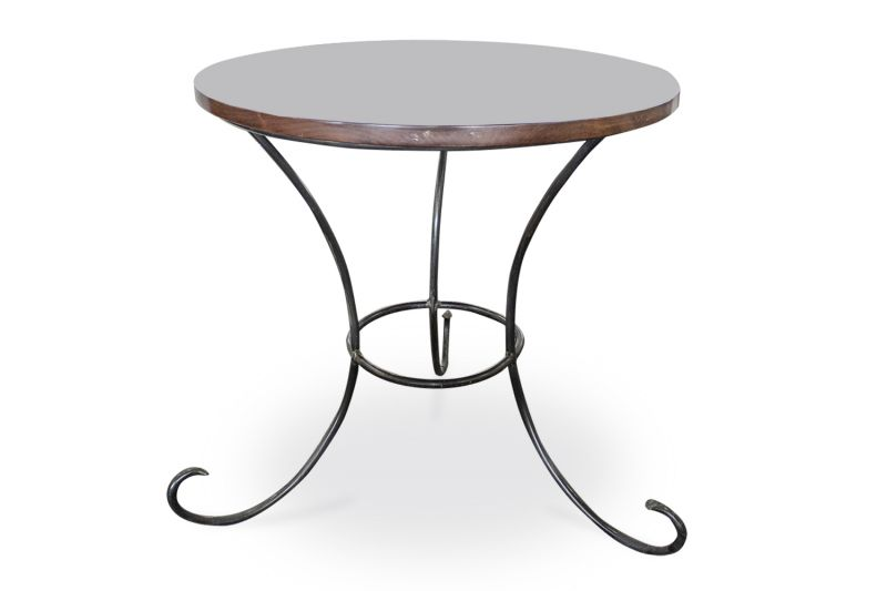 2.5' Dark Cherry Veneer Round Café Table