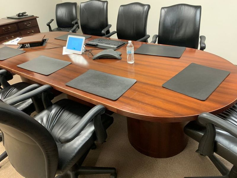 """96""""x48"""" Oval Conference Table (Cherry)"""