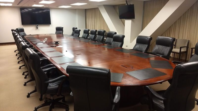 364x100 Oval Boardroom Table & Credenza (Cherry)