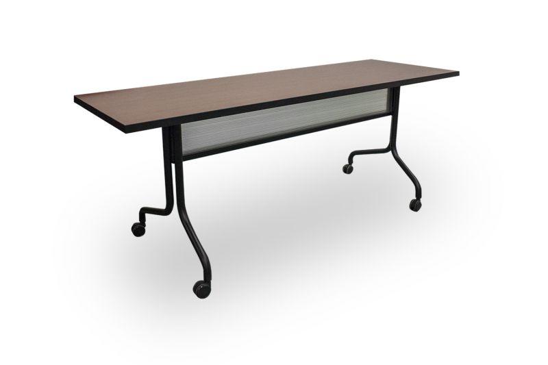 Open-Box Safco Impromptu Flip-Top Training Table (Shaker Cherry)