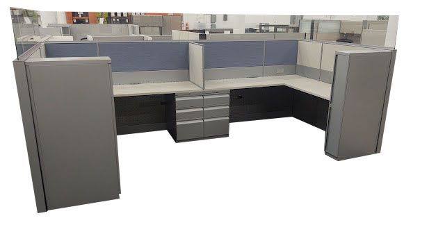 """Certified Pre-Owned Teknion Leverage Workstation (6'D x 6'W x 51""""H)"""