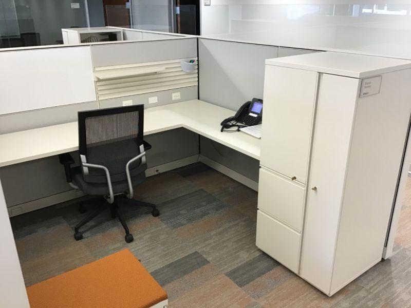 "Herman Miller Canvas Workstation (7'D x 7' x 53""H)"