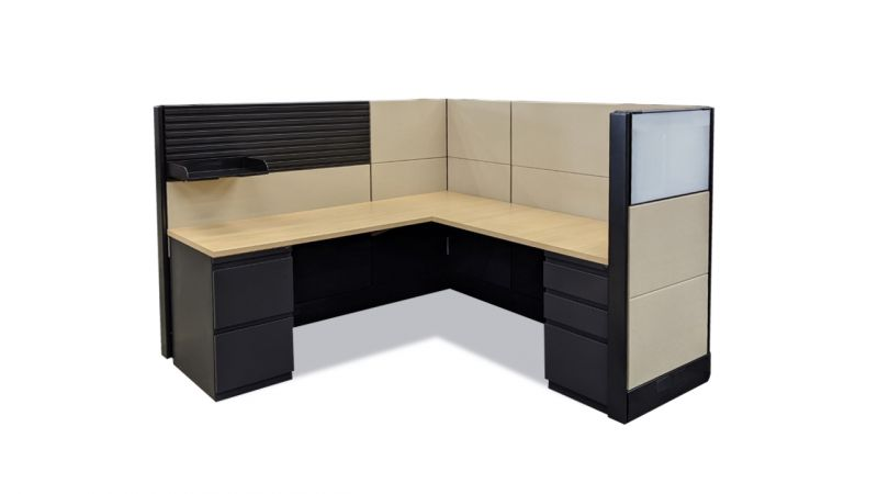 "Refreshed Herman Miller Ethospace Workstation (6'D x 6'W x 54""H)"