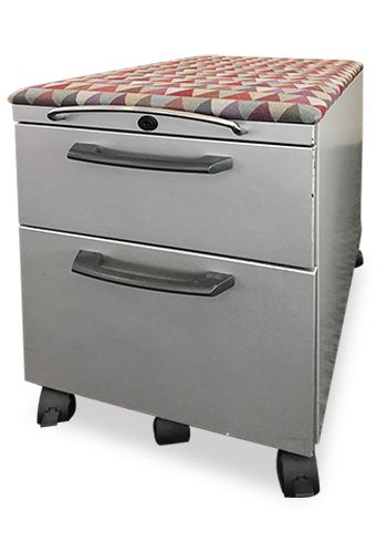 Box/File Pedestal, Mobile with Cushion Top, Knoll