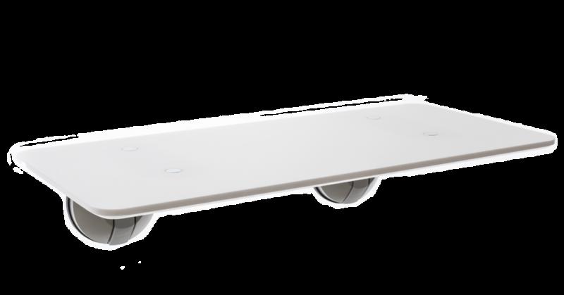 DeskView Window-Mounted Standing Desk (White)